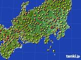 関東・甲信地方のアメダス実況(気温)(2015年05月02日)