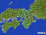近畿地方のアメダス実況(気温)(2015年05月02日)