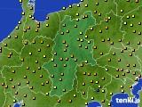 長野県のアメダス実況(気温)(2015年05月02日)