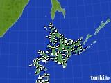 北海道地方のアメダス実況(風向・風速)(2015年05月02日)