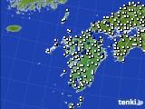 九州地方のアメダス実況(風向・風速)(2015年05月02日)