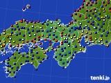 2015年05月07日の近畿地方のアメダス(日照時間)