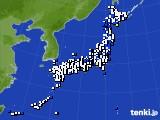 2015年05月10日のアメダス(風向・風速)