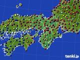 2015年05月11日の近畿地方のアメダス(日照時間)