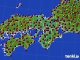 2015年05月13日の近畿地方のアメダス(日照時間)