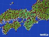 2015年05月17日の近畿地方のアメダス(日照時間)