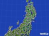 2015年05月18日の東北地方のアメダス(風向・風速)