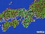 2015年05月21日の近畿地方のアメダス(日照時間)