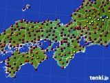 2015年05月22日の近畿地方のアメダス(日照時間)