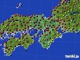 2015年05月24日の近畿地方のアメダス(日照時間)