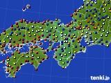 2015年05月25日の近畿地方のアメダス(日照時間)