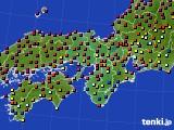 2015年05月29日の近畿地方のアメダス(日照時間)