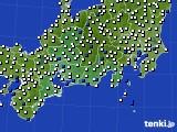 東海地方のアメダス実況(風向・風速)(2015年05月30日)