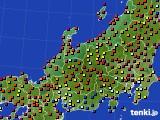 北陸地方のアメダス実況(日照時間)(2015年05月31日)