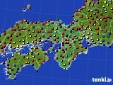 近畿地方のアメダス実況(日照時間)(2015年05月31日)