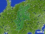 2015年05月31日の長野県のアメダス(風向・風速)