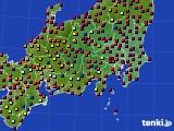 関東・甲信地方のアメダス実況(日照時間)(2015年06月01日)