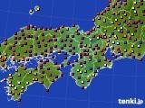 2015年06月01日の近畿地方のアメダス(日照時間)