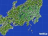 関東・甲信地方のアメダス実況(風向・風速)(2015年06月01日)