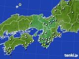近畿地方のアメダス実況(降水量)(2015年06月03日)