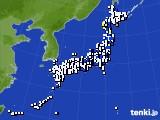 2015年06月04日のアメダス(風向・風速)