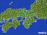 2015年06月06日の近畿地方のアメダス(気温)