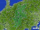 2015年06月06日の長野県のアメダス(風向・風速)