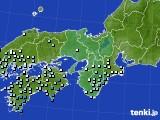 2015年06月08日の近畿地方のアメダス(降水量)