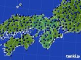 近畿地方のアメダス実況(日照時間)(2015年06月09日)