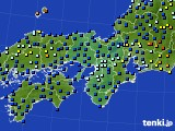 近畿地方のアメダス実況(日照時間)(2015年06月13日)
