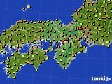 近畿地方のアメダス実況(気温)(2015年06月13日)