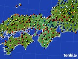 近畿地方のアメダス実況(日照時間)(2015年06月15日)