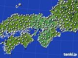 近畿地方のアメダス実況(風向・風速)(2015年06月15日)