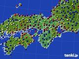 近畿地方のアメダス実況(日照時間)(2015年06月17日)