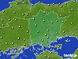 岡山県のアメダス実況(気温)(2015年06月18日)