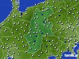 2015年06月20日の長野県のアメダス(風向・風速)