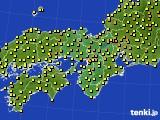 2015年06月22日の近畿地方のアメダス(気温)