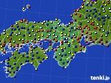 近畿地方のアメダス実況(日照時間)(2015年06月23日)