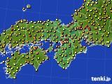 2015年06月24日の近畿地方のアメダス(気温)