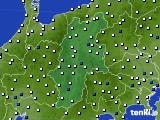 2015年06月25日の長野県のアメダス(風向・風速)