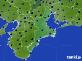 2015年06月27日の三重県のアメダス(日照時間)