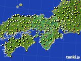 2015年06月27日の近畿地方のアメダス(気温)