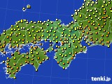 近畿地方のアメダス実況(気温)(2015年06月28日)