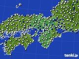 近畿地方のアメダス実況(風向・風速)(2015年06月28日)