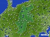 2015年06月28日の長野県のアメダス(風向・風速)