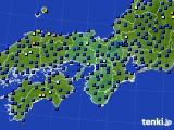 2015年07月01日の近畿地方のアメダス(日照時間)