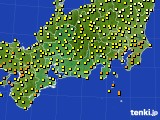 2015年07月01日の東海地方のアメダス(気温)