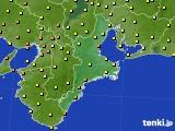 2015年07月01日の三重県のアメダス(気温)