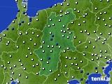 2015年07月01日の長野県のアメダス(風向・風速)