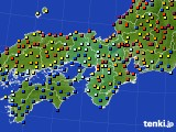 2015年07月02日の近畿地方のアメダス(日照時間)
